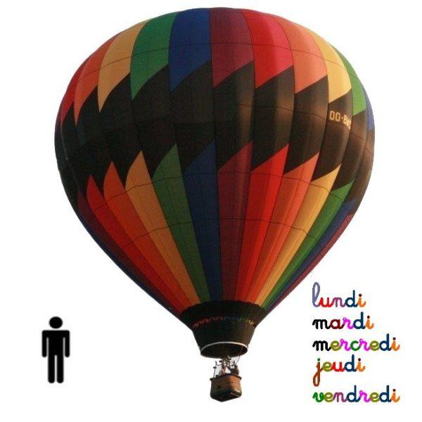Vol en montgolfiere adulte semaine lyon