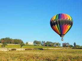 Envol de notre montgolfière à lyon