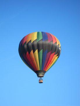 Notre ballon vue du sol