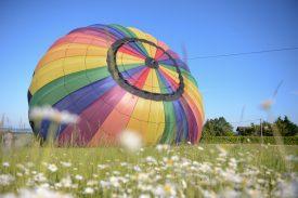 Départ de notre montgolfière à lyon