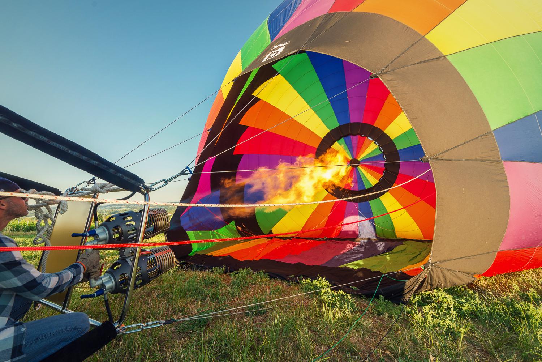 Grande montgolfiere de 8 personnes pour vol montgolfiere a lyon